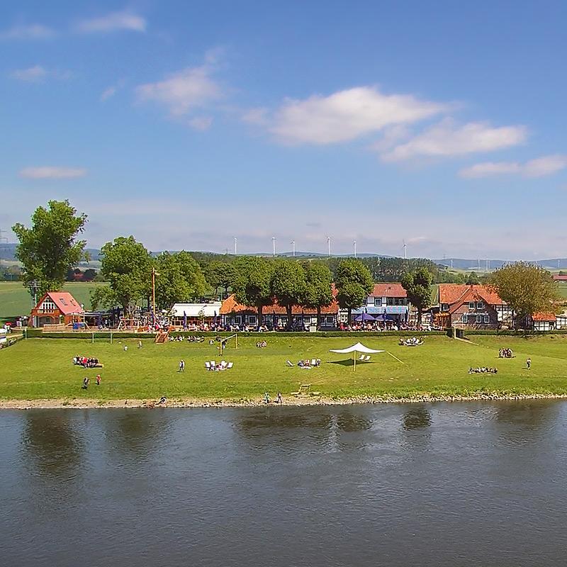 Weserwiese am Grohnder Fährhaus