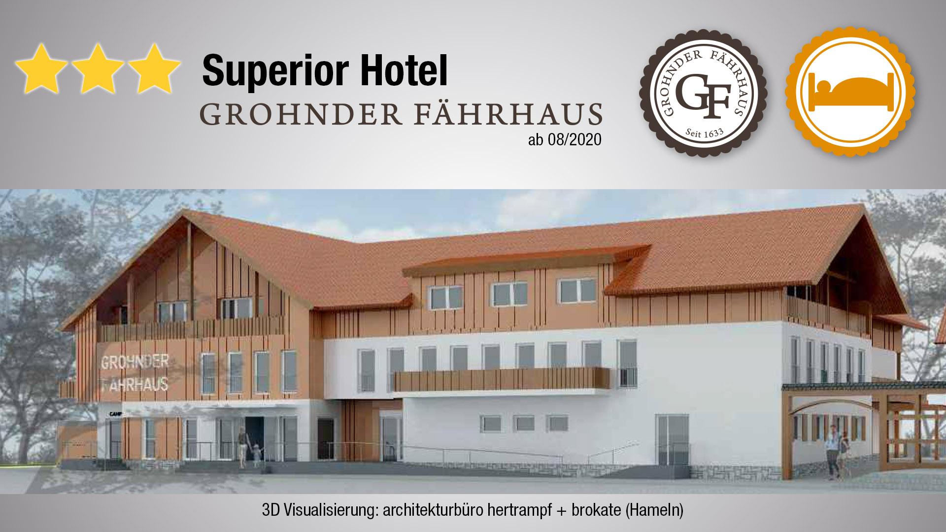 Neubau des 3-Sterne-Superior Hotel Grohnder Fährhaus